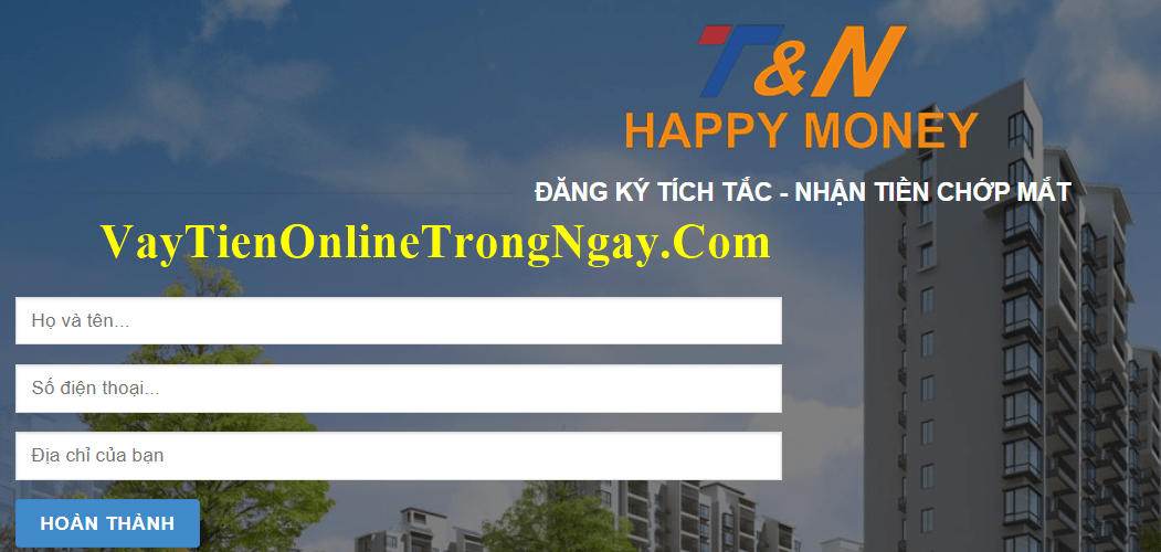 Vay tiền happy money
