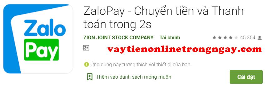 Cách Vay tiền qua ZaloPay