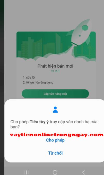 các app vay tiền truy cập danh bạ