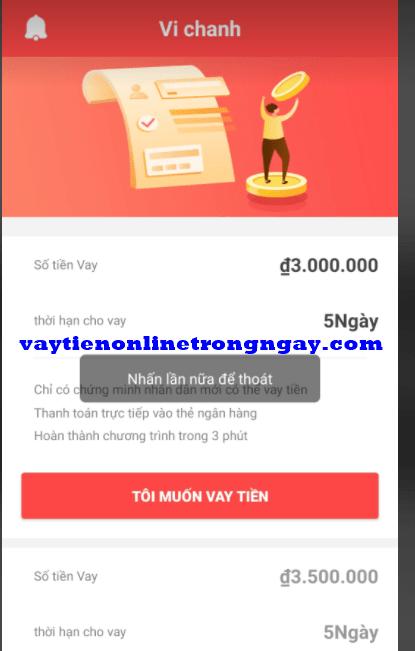 app ví chanh